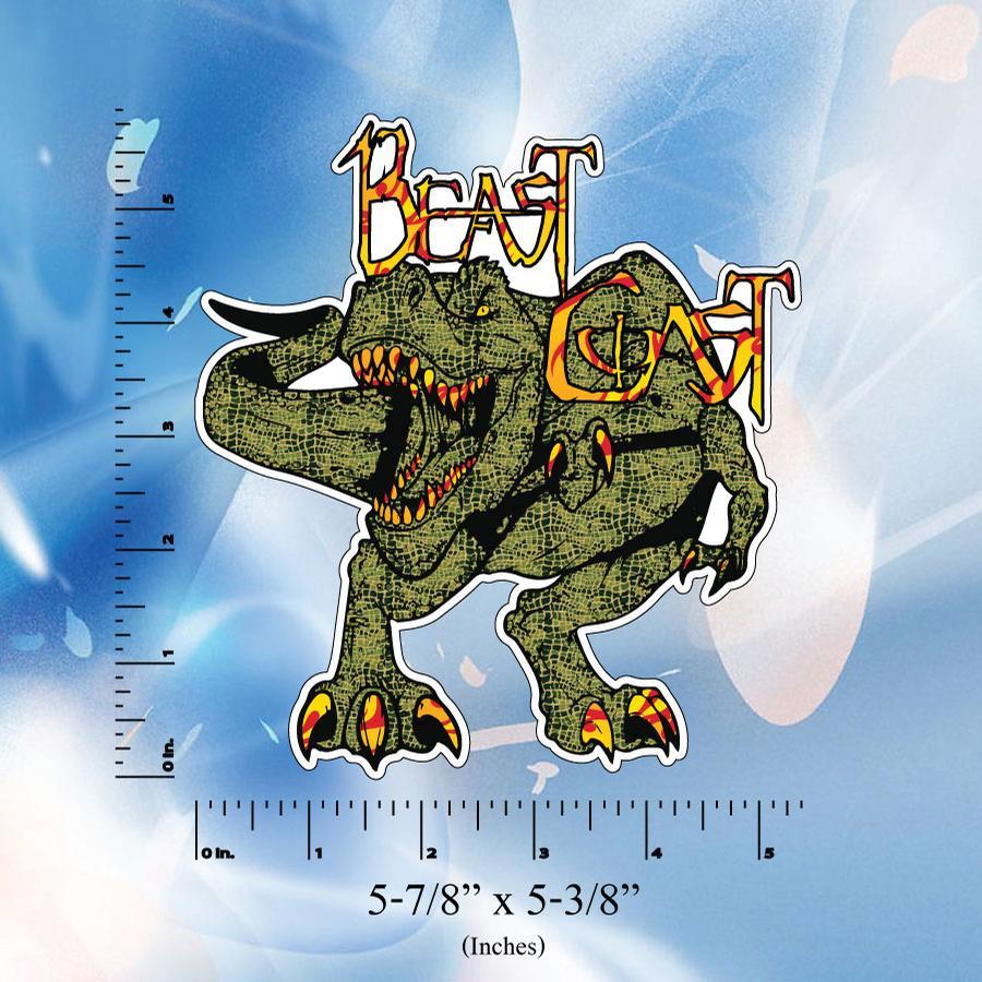 Image of Beast Coast Stickers // Digital Printed Vinyl Bumper Decal // T-Rex // Wolf // Yeti // Bear