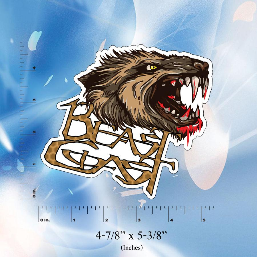 Image of Beast Coast Stickers // Digital Printed // T-Rex // Wolf // Yeti // Bear //