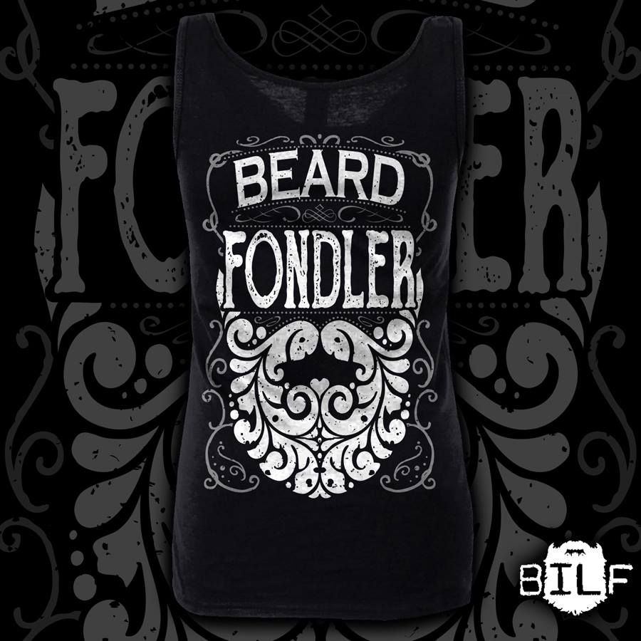 "Image of Ladies Black ""Beard Fondler"" Vest"