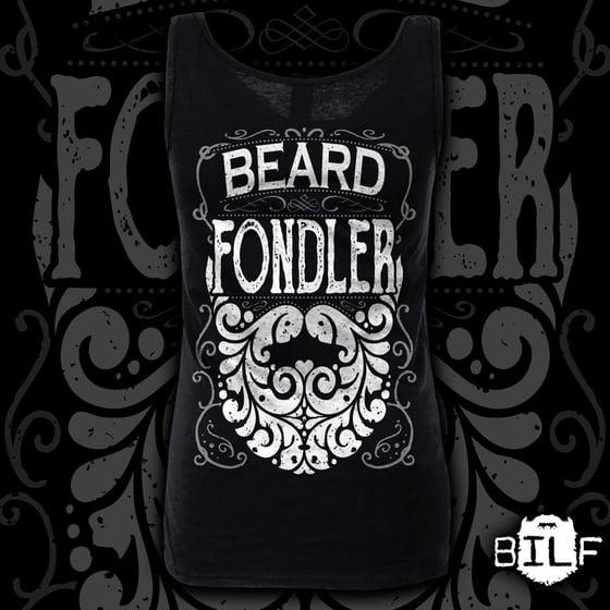 "Image of NEW STOCK Ladies Black ""Beard Fondler"" Vest"