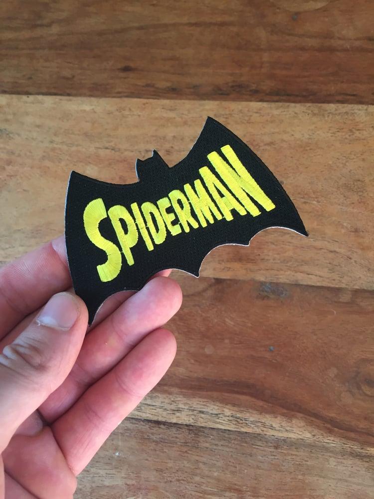Image of Spider-man-batman-man 10cm patch
