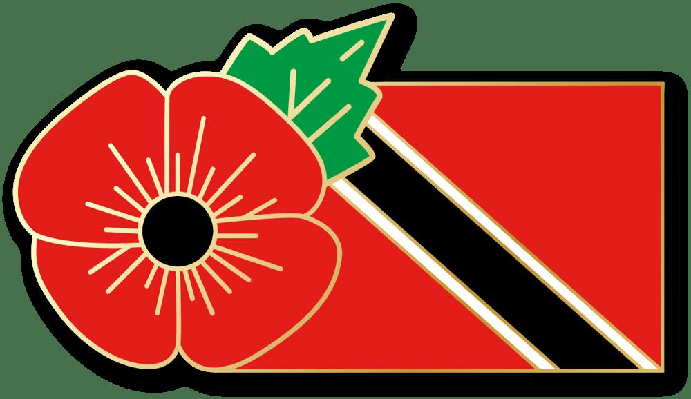 Image of TRINIDAD & TOBAGO FMN Poppy/Flag Combo Medal (28mm x 15.5mm)