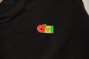Image of ST. VINCENT FMN Poppy/Flag Combo Medal (28mm x 15.5mm)