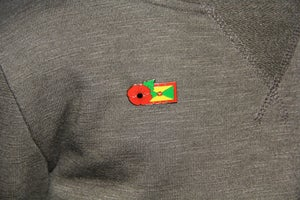 Image of GRENADA FMN Poppy/Flag Combo Medal (28mm x 15.5mm)