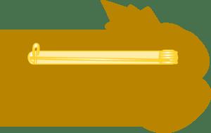 Image of GHANA (BLACK STAR) FMN Poppy/Flag Combo Medal (28mm x 15.5mm)