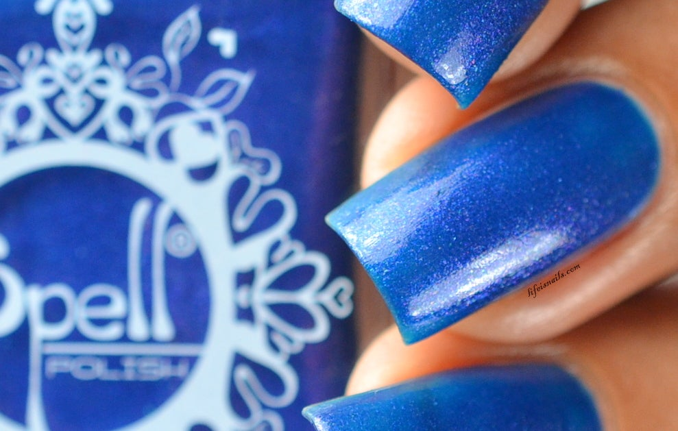 Image of ~Summer Nights Like Magic~ deep royal blue-violet duochrome nail polish!