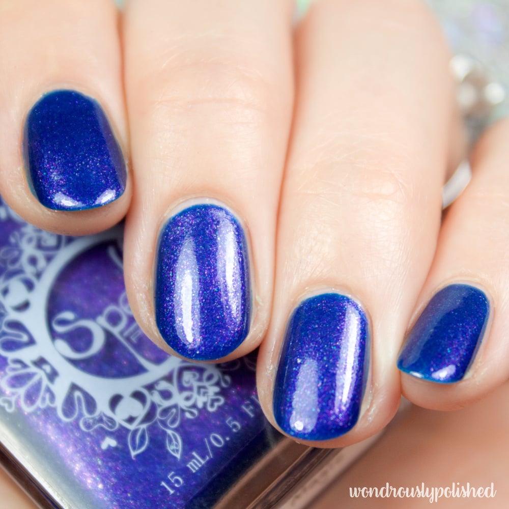 Summer Nights Like Magic~ deep royal blue-violet duochrome nail ...