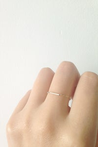 Image of Bague MINIMALE chaine & tube // Thin MINIMAL chain ring