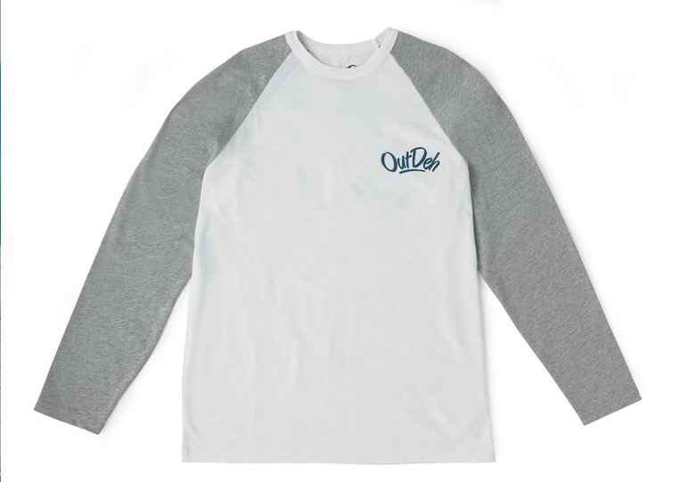 Image of White/Grey Long-Sleeve T-Shirt