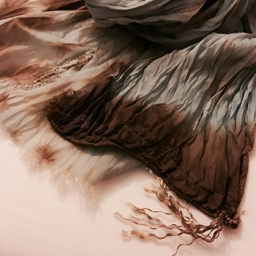Image of Walnut & Woad parachute silk scarf