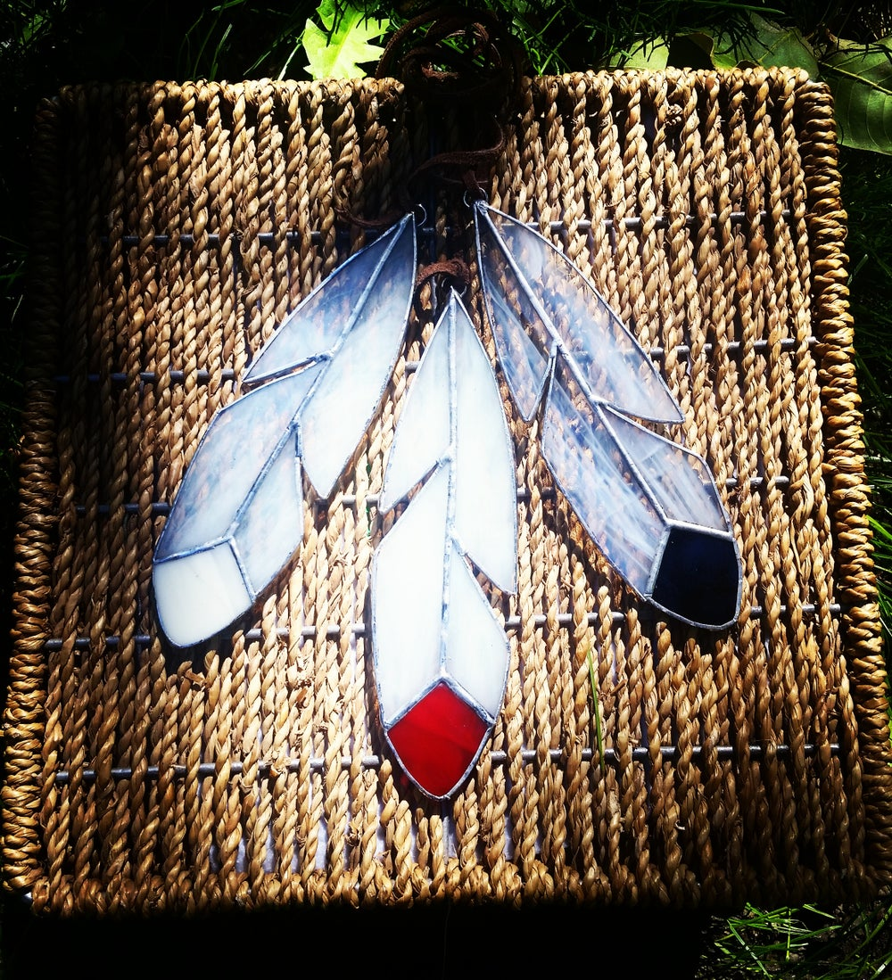 Image of Dream Feather Set - stained glass
