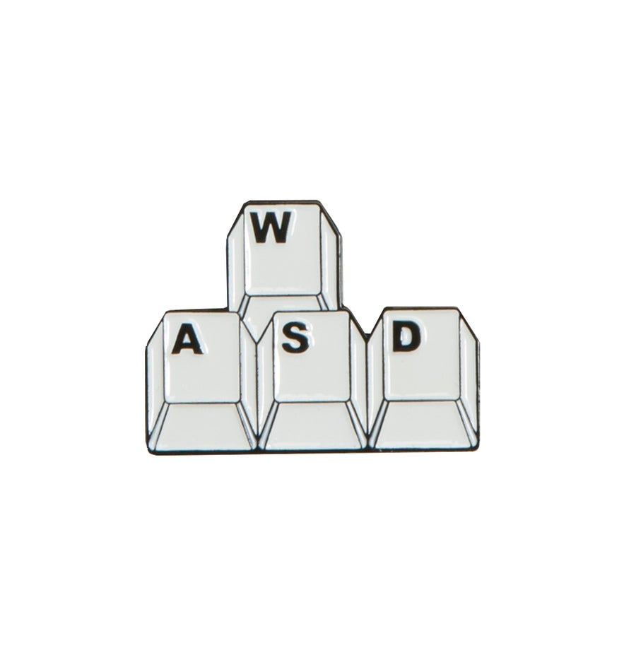 "Image of 'W,A,S,D' 1.25"" Lapel Pin"