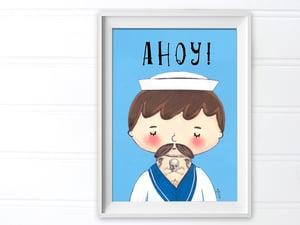 Image of Ahoy! Tattooed Sailor Art Print