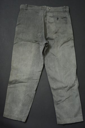 Image of 1940'S FRENCH STRIPPED SATL N' PEPPER CORDS PANTS フレンチコットンピケパンツ