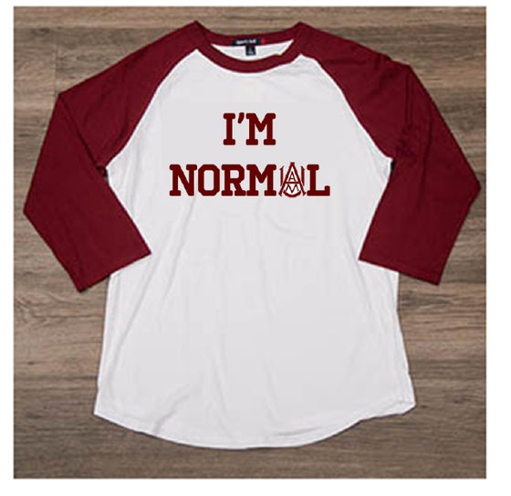 Image of I'M NORMAL - Baseball Tee