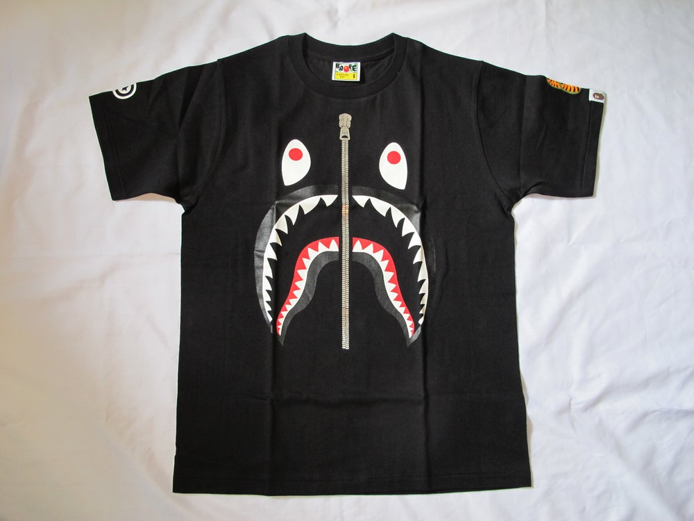 Image of A Bathing Ape (Bape) - Shark Tee (Black)