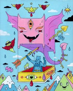 """Image of Batwing (Original Artwork 8"""" x 10"""")"""