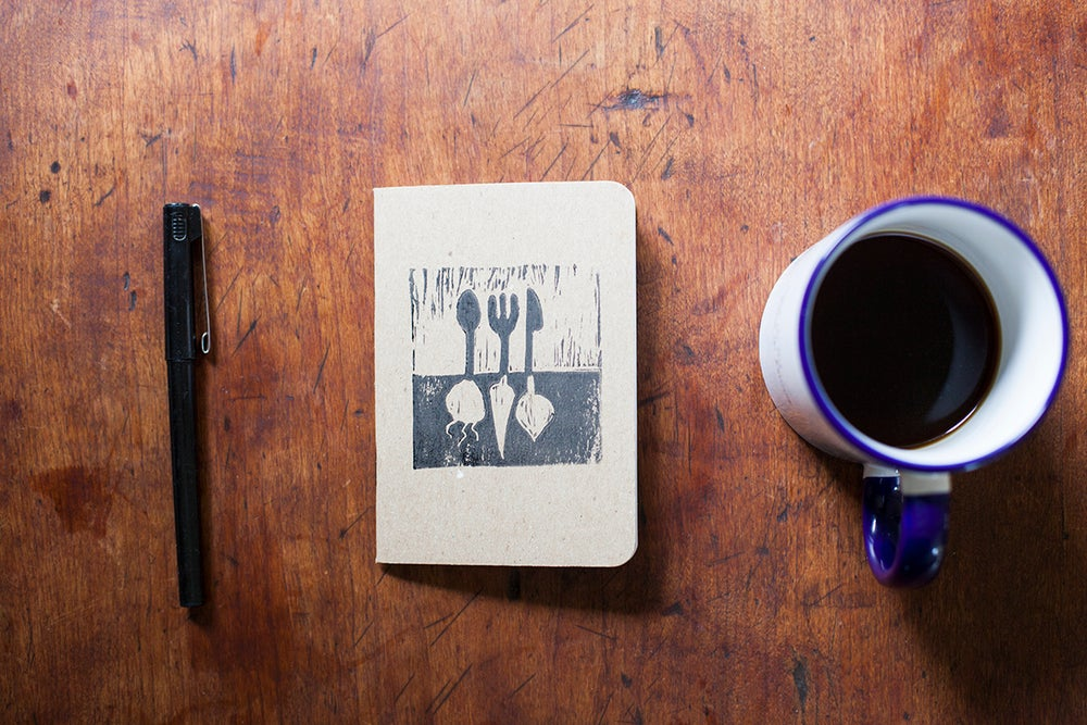 Image of Comestible Handprinted Notebook