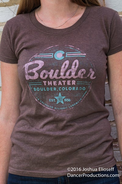 Image of Women's Brown Boulder Theater T-Shirt
