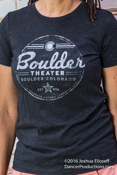 Image of Women's Boulder Theater Black T-Shirt