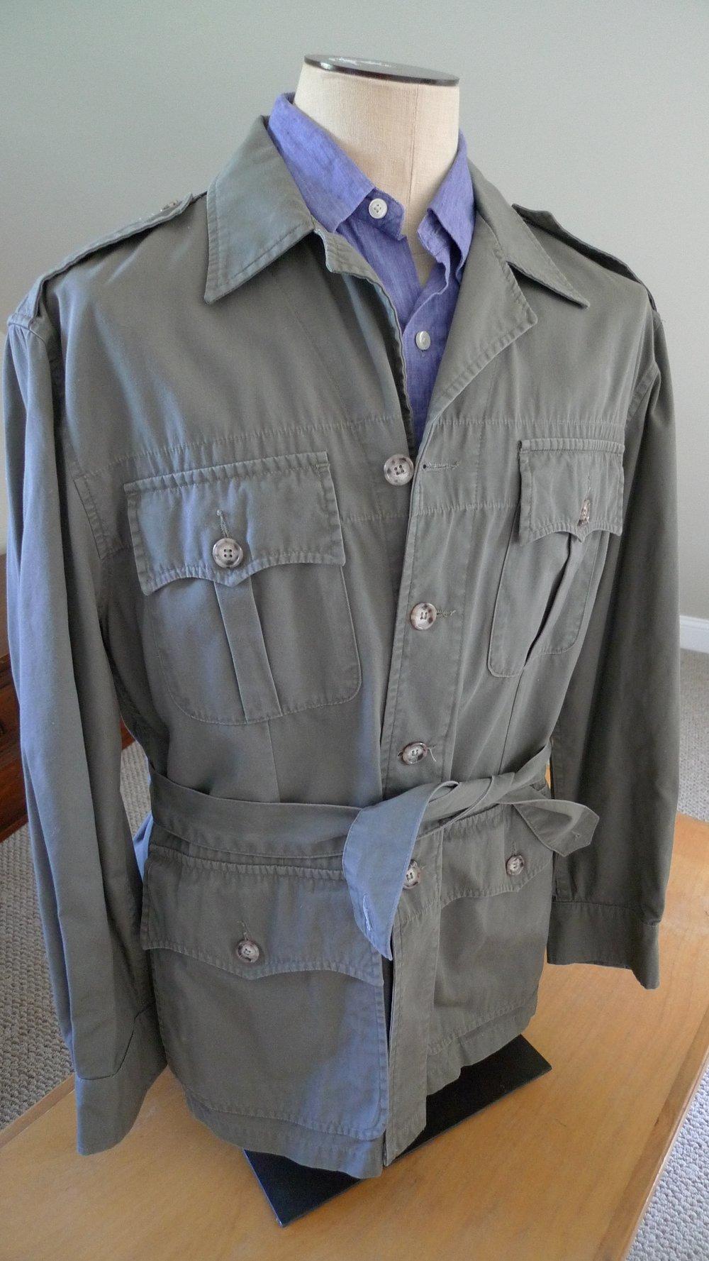 Willis Amp Geiger Bush Poplin Safari Jacket Size Medium