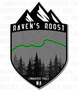 """Image of """"Raven's Roost"""" Trail Badge"""
