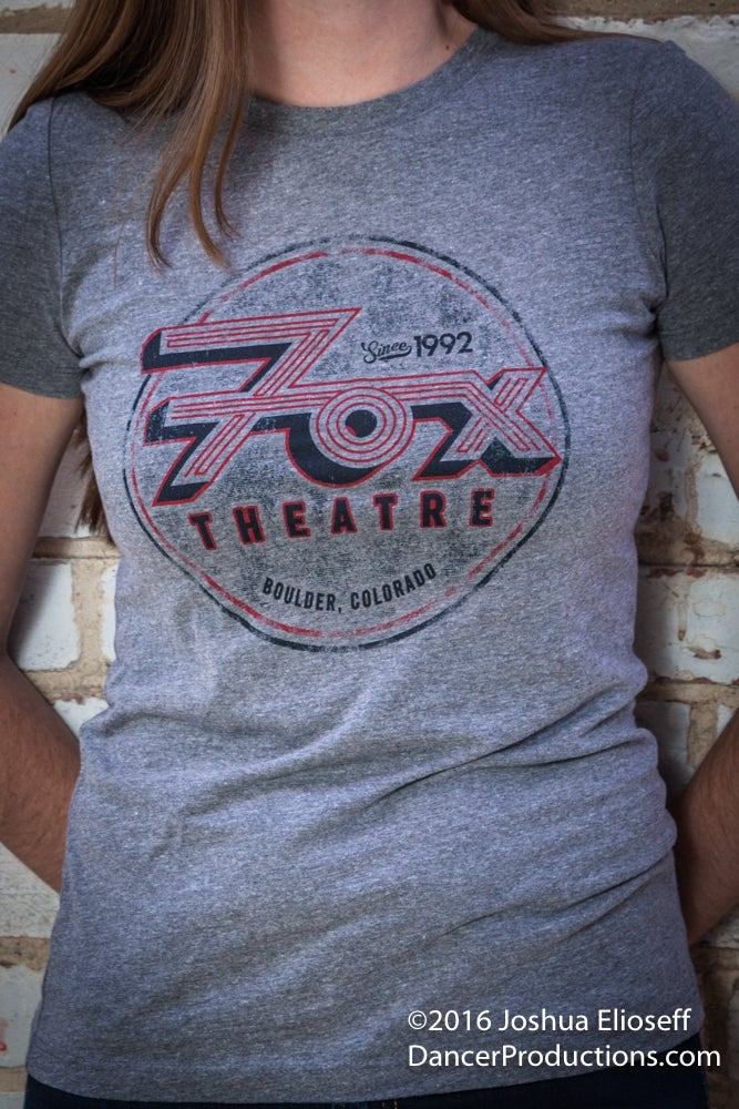 Image of Women's Fox Theatre Gray T-Shirt