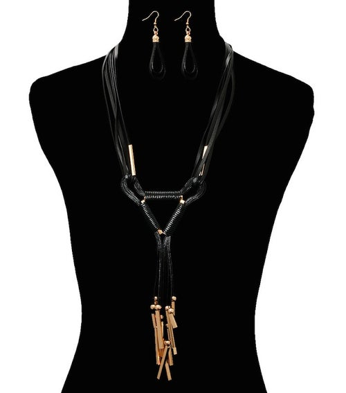 Image of Cord Layered Necklace Set