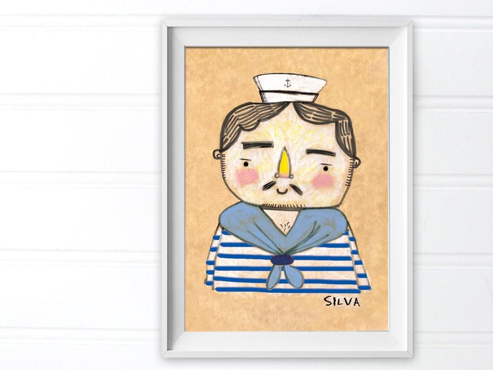 Image of Sailor Doodle Print