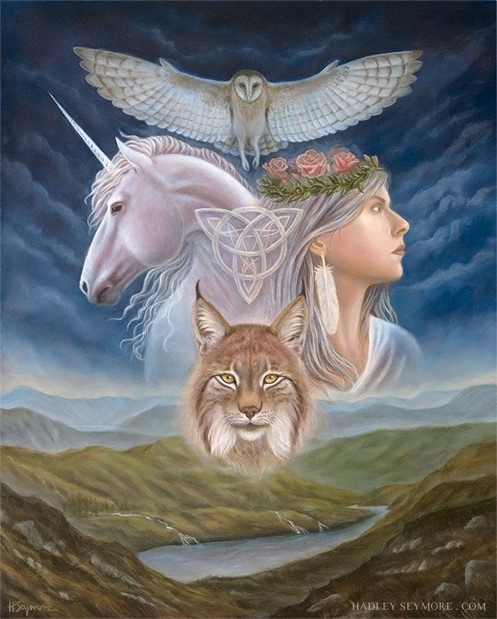 Image of Four Pillars of the Triple Goddess