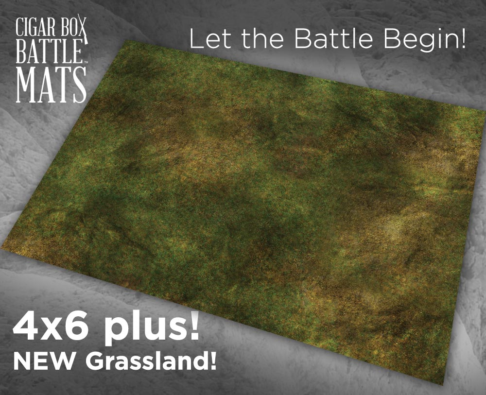 Image of Field of Battle - Grassland 2 -- 4x6 plus -- #410