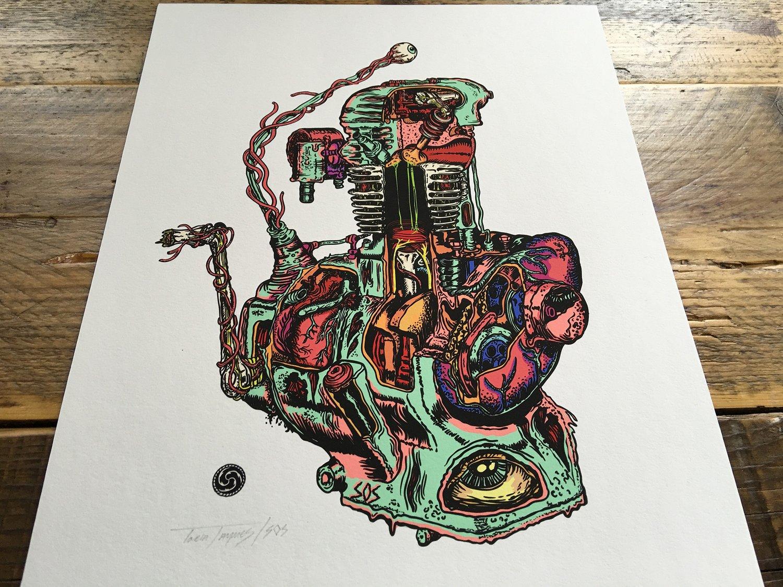 Image of It Lives - Engine Organism Print