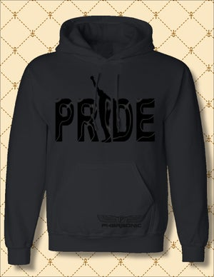 Image of MEN'S & WOMEN'S BLACK PRIDE PULL-OVER HOODIE