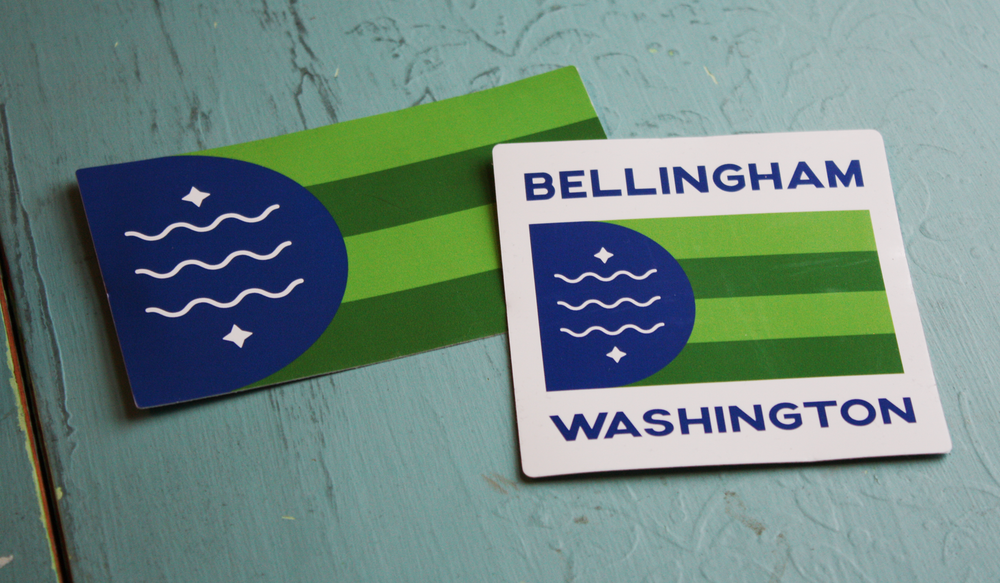 Image of Bellingham Flag Sticker 2-Pack