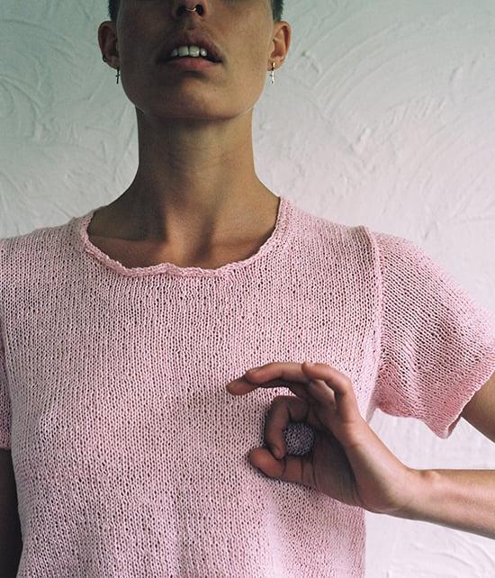 Image of Pink Linen T-Shirt