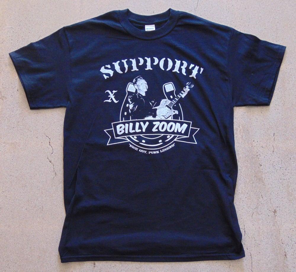 Image of Men's Black Support Billy Zoom Tee
