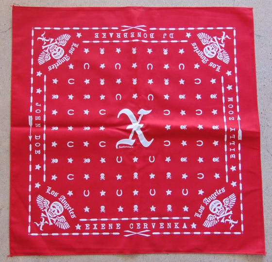 Image of X Red Bandana