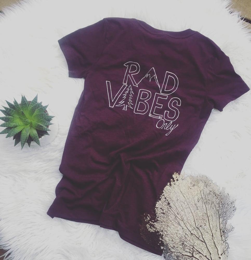 Image of Rad vibes V-neck tee shirt