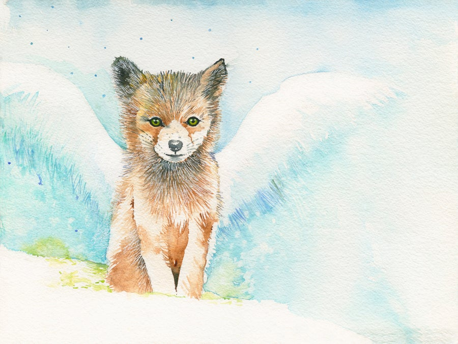 Image of Benji the baby Fox..FREE POSTAGE