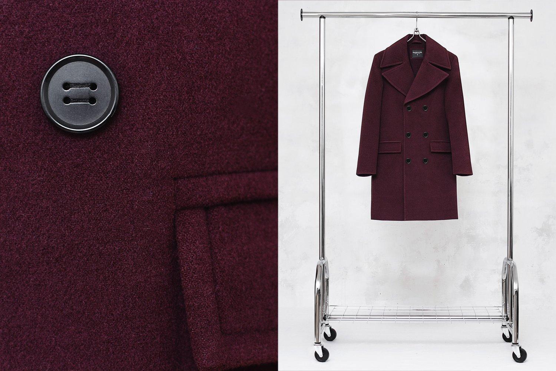 Image of BJORNE | Burgundy Wool-Blend Overcoat