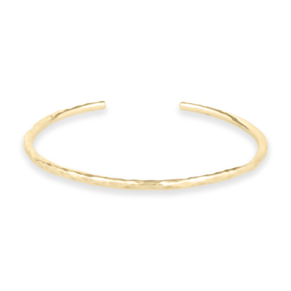 Image of Hammered Cuff Bracelet - Gold