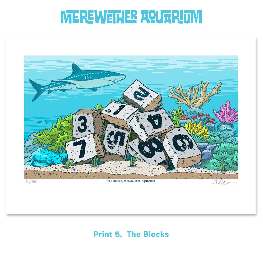 Image of 2. Merewether Aquarium A4 digital prints Five to Eight
