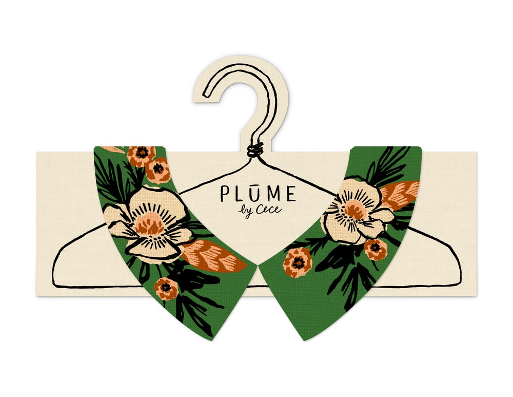 Image of Emerald Floral - Faux Collar