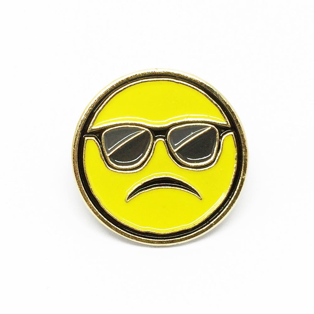 "Image of ""Cool Frown"" Soft Enamel Pin"