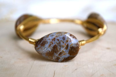 Image of Brown Moss Agate bangle