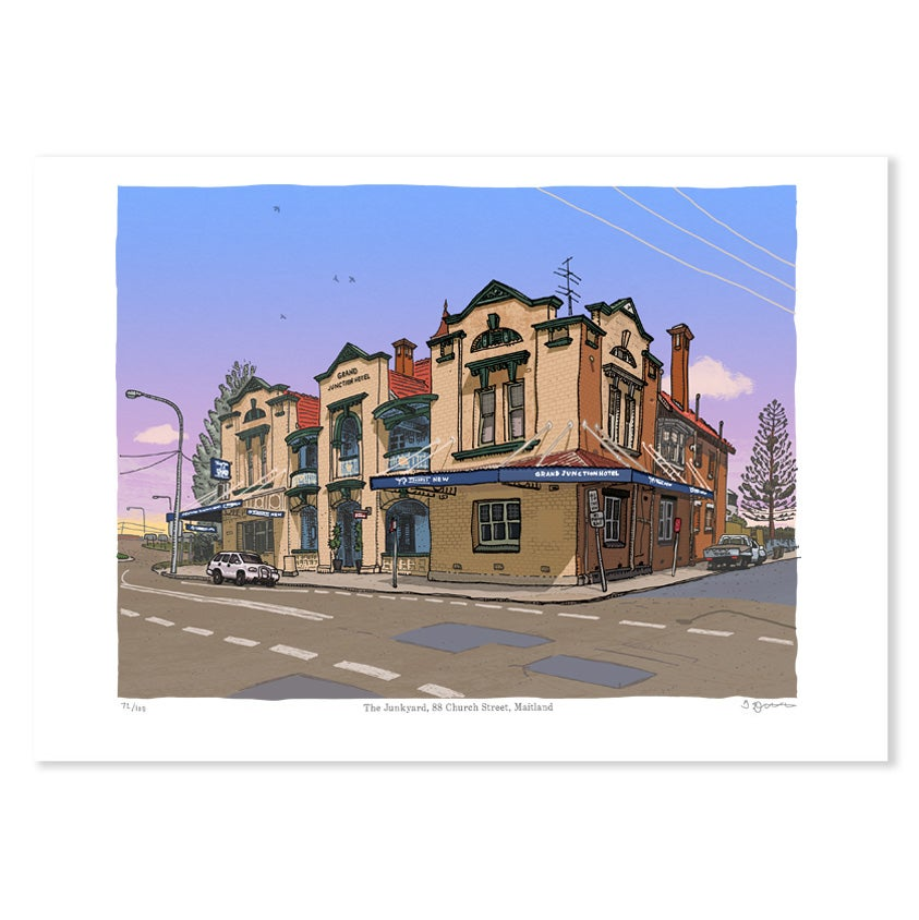 Image of Grand Junction Hotel, Maitland, digital print