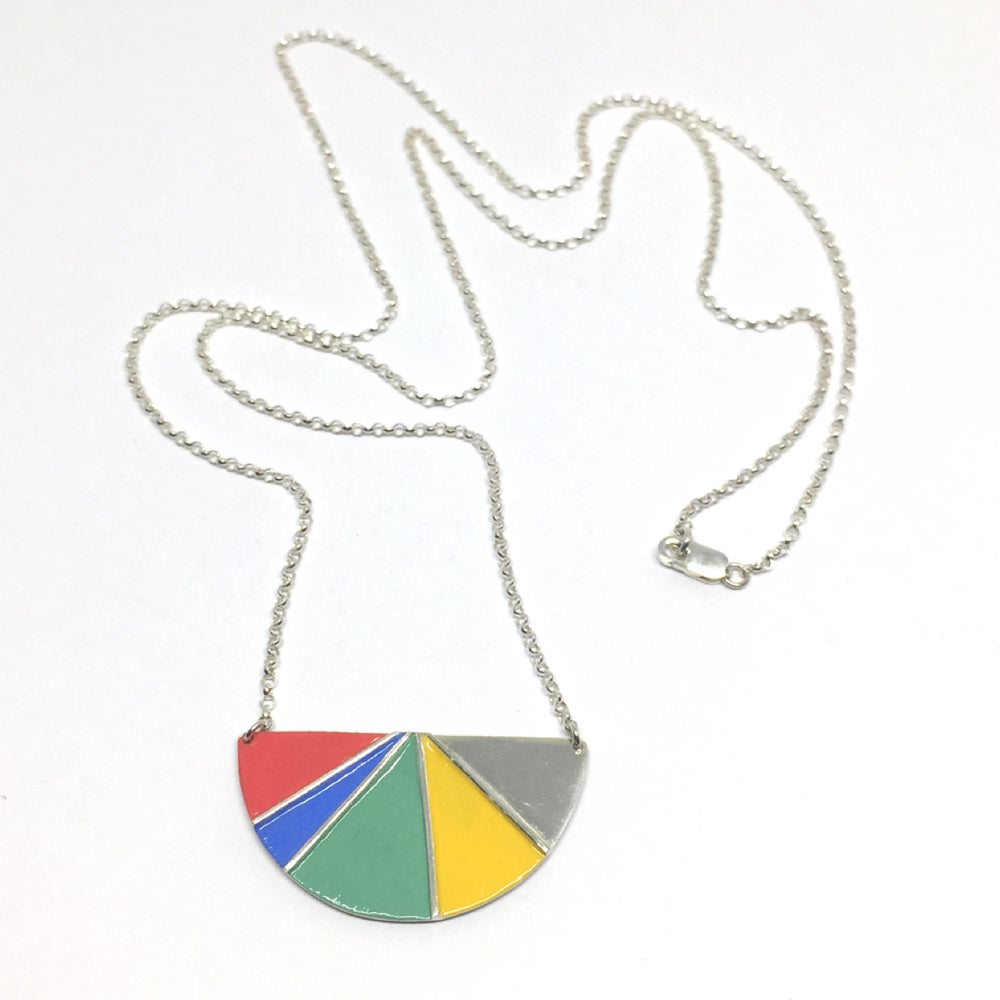 Image of Divided Half Round Necklace