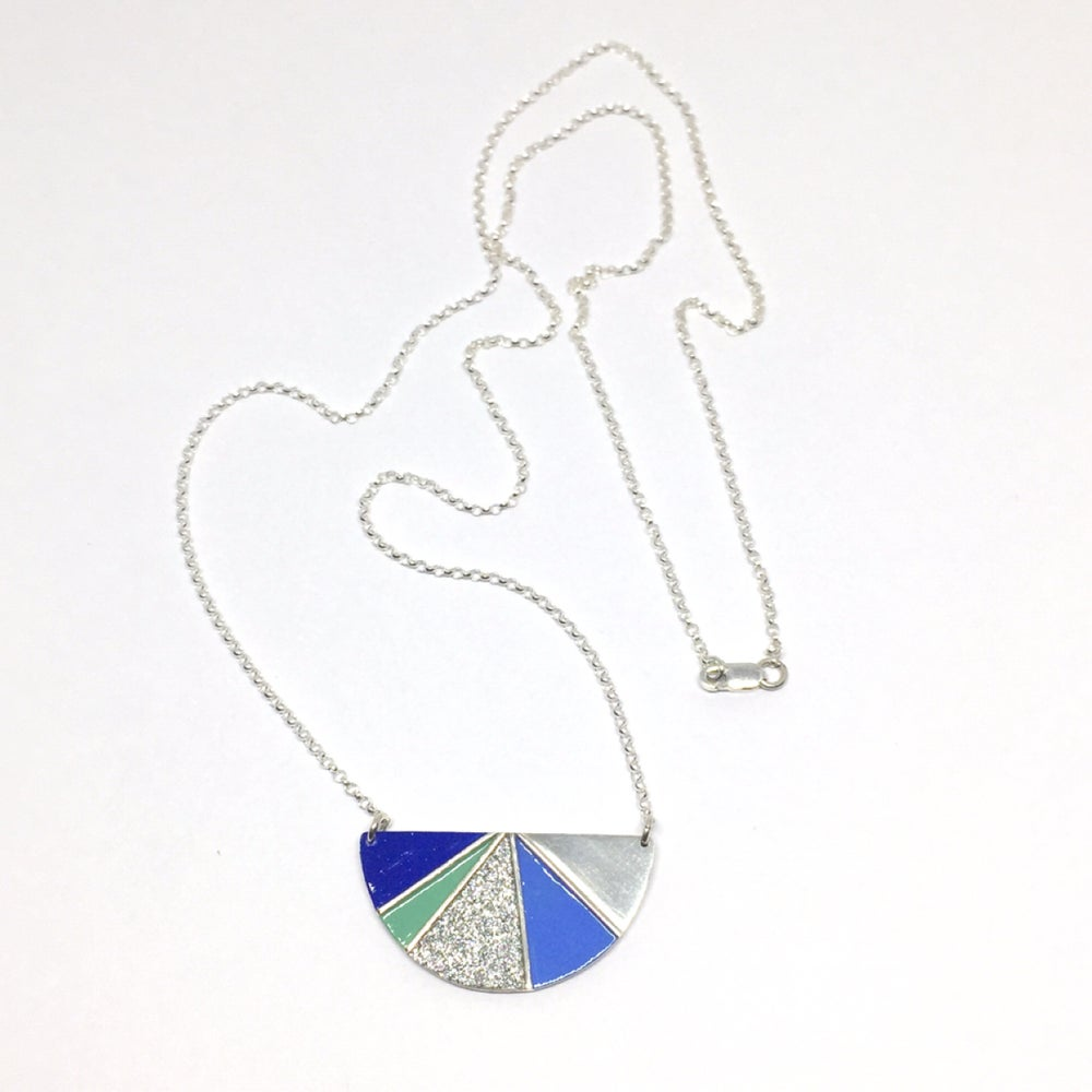 Image of Divided Half Round Necklace - Cool Glitter or Warm Glitter