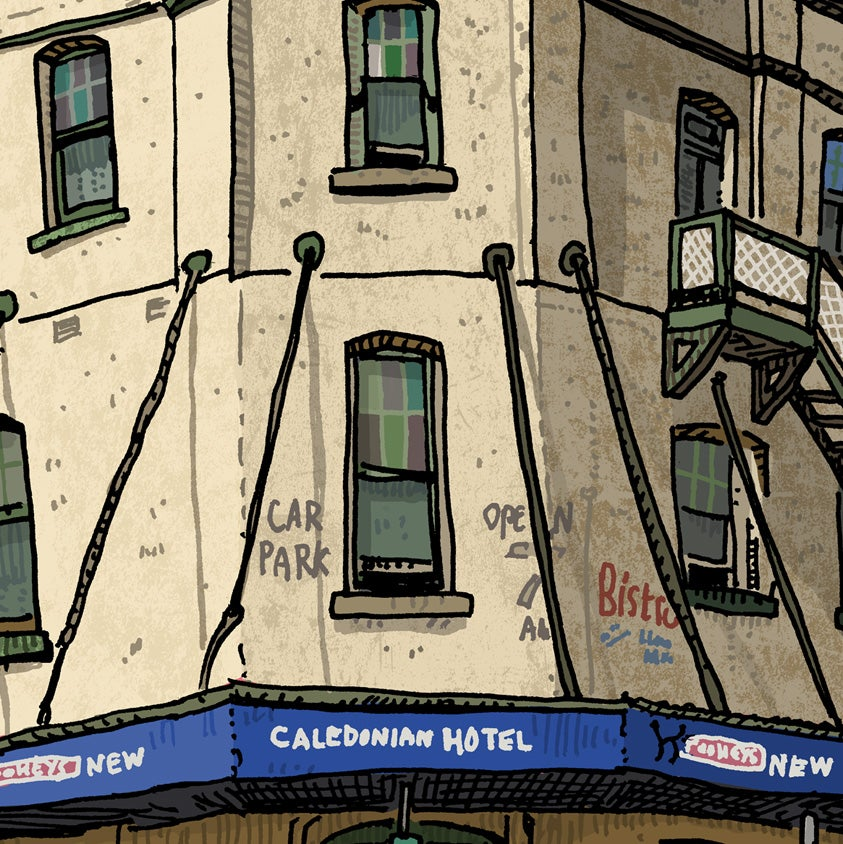 Image of The Caledonian Hotel, digital print, East Maitland, digital print