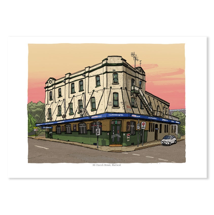 Image of The Caledonian Hotel, digital print, East Maitland, digital print